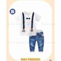 Setelan ANak Laki-laki GW 288 B Shirt White|Baju Anak Branded Murah