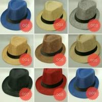 Topi Fedora Anyaman Import Elegan-Topi Koboy Promosi Kualitas Import 2fd0aaa511