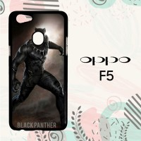 Casing OPPO F5 Custom Hardcase HP Black Panther Marvel L0594