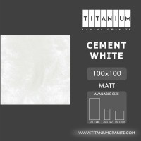 Titanium Granite - CEMENT WHITE - MATT - 100X100 - FREE DELIVERY