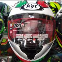 Helm Full Face Warna Putih Merk KYT