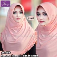 KW Jilbab instan Arrafi Rumana Rempel AR58 (warna Peach)/ Hij