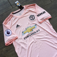 Jersey Manchester United Away FULL PATCH PL 2018/2019 Grade Ori