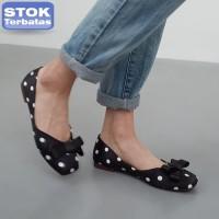 Harga sepatu wanita b labels ollga black polkadot | Pembandingharga.com