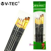 V-Tec Brush A0345 Set 6 / Kuas Lukis Set isi 6
