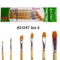 V-Tec Brush A21547 Set 6 / Kuas Lukis Set isi 6