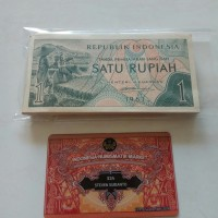 Uang Kuno 1 Rupiah th 1961 bundle 100 lembar