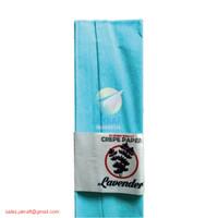 Kertas Crepe Warna (Biru Langit) 110 x 60 cm Besar Full Krep Klobot