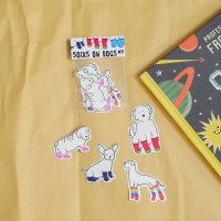 Socks on Dogs sticker set part 2 by Deasy Camiladini