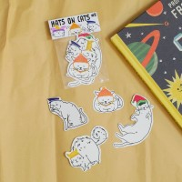 Hats on Cats sticker set part 2 by Deasy Camiladini