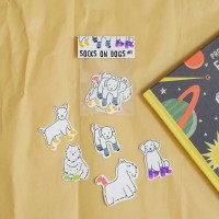 Socks on Dogs sticker set part 1 by Deasy Camiladini