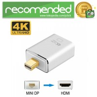 Adapter Converter Mini Display Port to HDMI 4K - Silver
