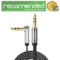 UGREEN Kabel Audio AUX L Jack 3.5mm 1 Meter - Hitam
