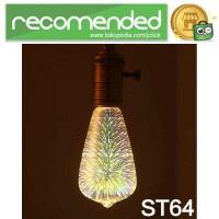 Lampu Bohlam LED Dekorasi Fireworks 3D E27 220V 4W - ST64 - Multi War