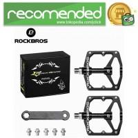 Rockbros Pedal Sepeda Aluminium Alloy Non Slip - Hitam