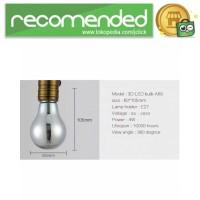 Lampu Bohlam LED Dekorasi Fireworks 3D E27 220V 4W - A60 - Multi Warna