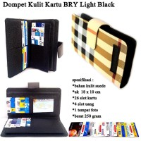 Card Pocket Hp BRY Kulit Light black