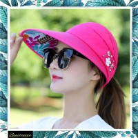 Topi Pantai Golf Lipat Korea Wanita Import