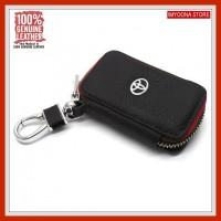 Dompet Gantungan Kunci Kulit PREMIUM LUXURY TOYOTA 01 BLACK