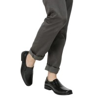 Rasheda sepatu pantofel pria kulit asli K 11 Big Size - Hitam 434a4e9af6