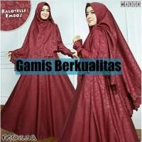 Baju Gamis Wanita - MOZZA SYARI Balotelli Embos - Dress Pesta - Murah