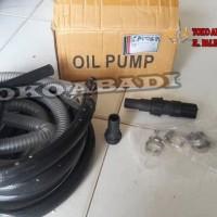 pompa oli / bensin merk airlux + selang dan gun