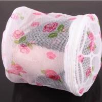 Keranjang Cucian Pakain Dalam Underware Bra / Laundry Bag Bunga - X419