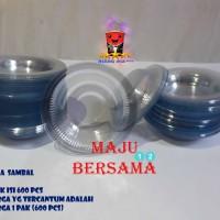 PIRING PLASTIK SAUS / SAOS SAMBAL BENING @ 600 PCS MIKA TEMPAT SAMBEL