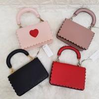 Harga charles and keith scallop trim shoulder bag hand bag tas | antitipu.com