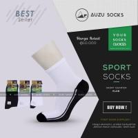 Kaos kaki olahraga putih telapak hitam pendek semata kaki