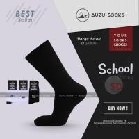Kaos Kaki Sekolah SD | Hitam Polos | Panjang Sebetis | Spandex PE