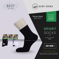 Kaos kaki olahraga hitam pendek semata kaki-Quarter sport socks black
