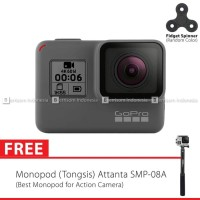 New GoPro Hero6 / GoPro Hero 6 Black + Tongsis Attanta 08-A Spin