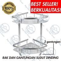 Rak Sudut Dinding Kamar Mandi WC Toilet Serbaguna Sabun Shampo S983