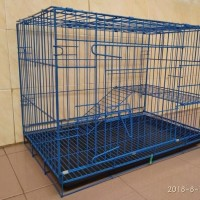 Kandang Tingkat Besar Besi Lipat untuk Kucing Anjing Kelinci