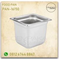 Tempat Topping Ice Cream Food Mutu Pan-16150 Stainless Steel 201