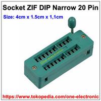 Harga new 20pin socket zif narrow soket ic 20 pin dip   Pembandingharga.com
