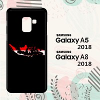 Casing Samsung Galaxy A8 2018 Custom HP Map of Indonesia LI0026