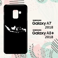 Casing Samsung Galaxy A8 Plus 2018 Custom HP Map of Indonesia 2 LI0027