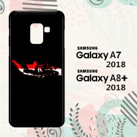 Casing Samsung Galaxy A8 Plus 2018 Custom HP Map of Indonesia LI0026