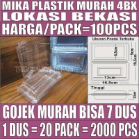 Mika Mie Kue Uk 4 BX Plastik 100pcs Per Pack Sedang 0.1mm Gojek Bekasi