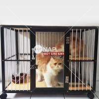 Kandang Kucing/Anjing/Hewan Lainnya Aluminium 1 Kamar 1 Lantai