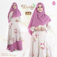 Harga warda dress a4 victorian rose yasmeera gamis syari motif bunga | Pembandingharga.com