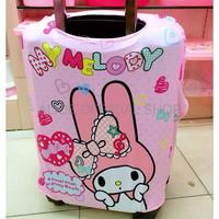 TAS WANITA CANTIK LOGU Sarung koper Hello kitty Melody Doraemon Lugga