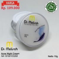 Acne Night Cream Dr Melisch 100% Berkualitas Untuk Wajah Berjerawat
