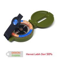 Kompas Lensatic Petunjuk Arah Hijau Metalic