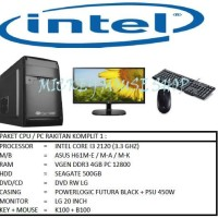PAKET CPU / PC RAKITAN KOMPLIT 1 / INTEL I3 2120 (3.3 GHZ) / RAM 4GB