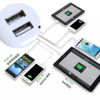 Charger Usb 4 Port in 1 AC DC Cas HP Oppo Samsung Xiaomi