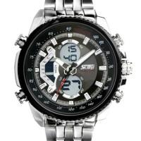 ORI-BM SKMEI jam tangan pria anti air casual ada LED Casio-Hitam