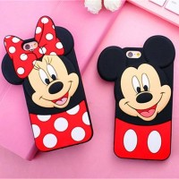 Casing Hp Case iPhone 5 5s SE 6 6s 7 8 Plus New 3D Cute Mickey Minnie